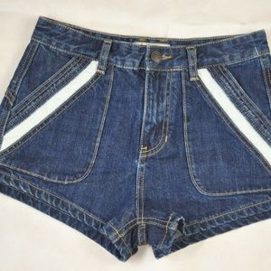 Free People Short Denim Lace Sweet High Size 26